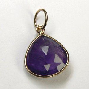 Jewelry - 3.75 ct AMETHYST 18K Rose Gold over Silver Pendant